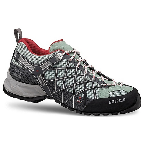 Free Shipping. Salewa Women's WS Wildfire GTX Shoe DECENT FEATURES of the Salewa Women's WS Wildfire GTX Shoe Upper: Microfiber Forefoot Ballistic Mesh Exa Shield Over Injected 3D Cage Lining: Gore-Tex Extended Comfort Outsole: Vibram Tech Approach EVO The SPECS Weight: 355 g - $158.95
