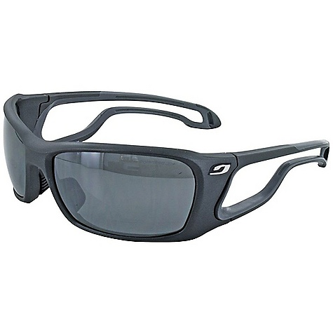 Free Shipping. Julbo Pipeline L Polarized Sunglasses DECENT FEATURES of Julbo Pipeline Polarized Sunglasses   Built a bit larger than the Pipeline   Polarization: Polarized lenses   Lightweight   Breathable   Open temples The SPECS   Base: 8   Lens Width: 70 mm   Nose Width: 17 mm   Stem Length: 120 mm - $139.95