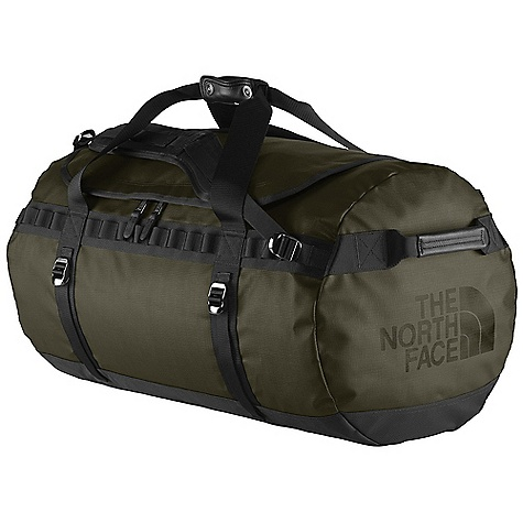 Entertainment Free Shipping. The North Face Base Camp Duffle Large SE DECENT FEATURES of The North Face Base Camp Duffle Large SE Leather accents on haul handles, shoulder straps and ID window for a refined touch Metal hardware for added durability All-over linen emboss on classic Base Camp material Alpine-cut shoulder straps D-zip opening with zipper flap Rugged construction with extra bartacks and double stitching Four compression straps Main compartment with internal mesh pockets Locking zippers The SPECS Average Weight: 4 lbs 3 oz / 1899 g Volume: 5495 cubic inches / 90 liter Dimension: 28 x 16 x 16in. / 71 x 41 x 41 cm 1000D phthalate-free TPE fabric laminate 840D Jr. ballistics nylon, leather This product can only be shipped within the United States. Please don't hate us. - $199.95