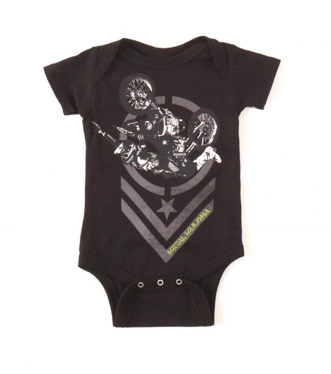 Motorsports Metal Mulisha baby onesie. 100% cotton. - $10.99