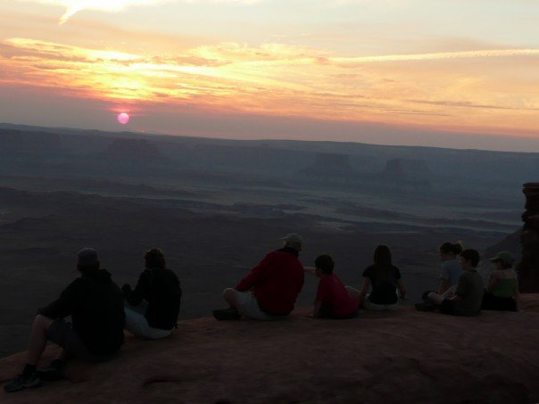 Camp and Hike Overlook of Canyonlands, Utah at sunset!
