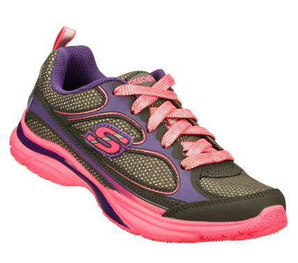 Add some zip to her step with the SKECHERS Lite Kicks shoe.  Smooth leather and mesh fabric upper in a lace up athletic sporty training sneaker with stitching and overlay accents. - $37.00
