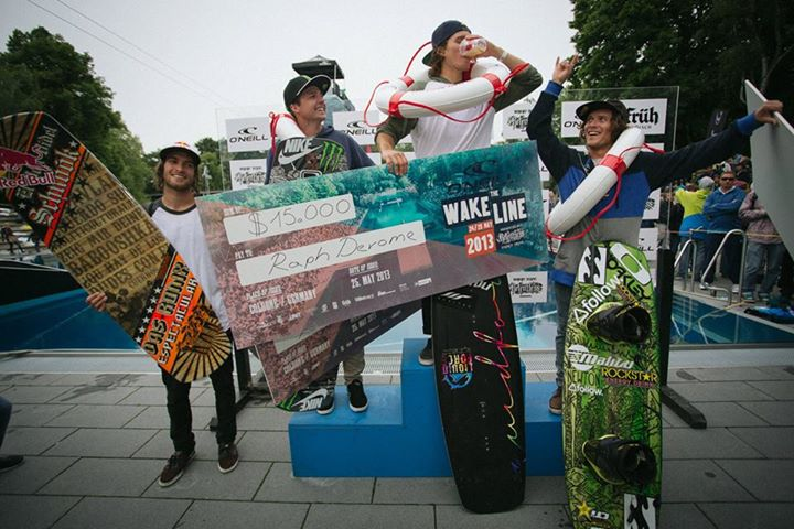 Wake Wakeboard: 1st Raph Derome, 2nd Kevin Henshaw , 3rd Oli Derome