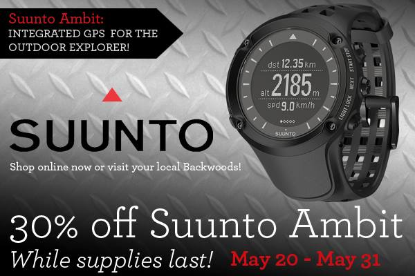 Fitness The Suunto Ambit watch features a barometric altimeter, waypoint navigation, and lets you create points of interest. Switch it to training mode and the watch tracks speed, distance, and heart rate.
