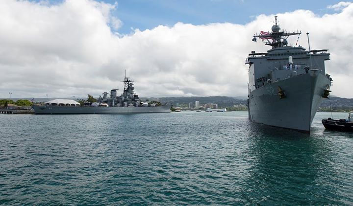 Guns and Military USS Pearl Harbor (LSD 52) departed her namesake Saturday for Samoa, the first mission port of Pacific Partnership, the largest disaster preparedness response mission in the Indo-Asia-Pacific Region. Find out more: http://ow.ly/lp8tc