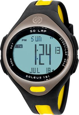 Designed for serious runners, this lightweight runners watch has one of the largest displays on the market, and features 50-lap memory, five interval timers and multiple time zones/alarms. The lightweight band and case are constructed of sweatproof polyurethane to stand up to your tough workout schedule. One-year limited warranty.Colors: Black/Yellow, Gunmetal. - $74.99