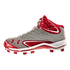 Fitness UA is the Official Performance Footwear Supplier of MLBRotational Traction TPU cleat configuration optimizes rotational capability for maximum acceleration and powerUA-engineered leather and perforated nubuck upper gives you breathable durabilityFull-length ArmourBound(R) midsole cushions, absorbs shock, and spreads force over entire cleatMolded 4D Foam(TM) insole forms to your foot, preventing internal foot slip while increasing lateral stabilityRigid ArmourGuide(R) TPU outsole prevents foot from twisting and rolling from side to sideGrooves in cleat's forefoot allow you to flex your foot more naturally, giving you more power from each stepMesh tongue lets feet breathe, keeping them cool and lightImported - $35.99