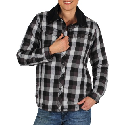 With the familiar style of your favorite flannel shirt but upgraded with lightweight insulation, the ExOfficio Pocatello Plaid shirt jacket delivers cozy softness and extra warmth for cool days. - $19.73