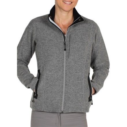 Get the best of both worlds with the warmth of wool plus the softness of fleece in the ExOfficio Consolo fleece jacket. It's a great defense for staying cozy when the weather turns cold. - $39.73