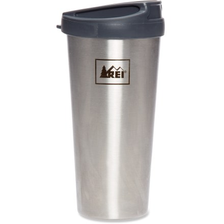 Camp and Hike Swing by your favorite coffee shop to refill your 16 fl. oz. REI Grande double-walled cup. It saves a paper cup from the landfill or recycle bin, and keeps your morning beverage warm for up to 30 min. - $13.83