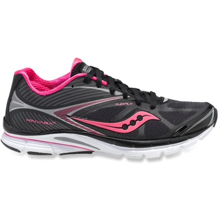 Fitness Built for comfort while running on pavement, the Saucony Kinvara 4 road-running shoes offer a responsive, minimalist ride. Breathable uppers keep your feet cool when your pace heats up. - $49.83