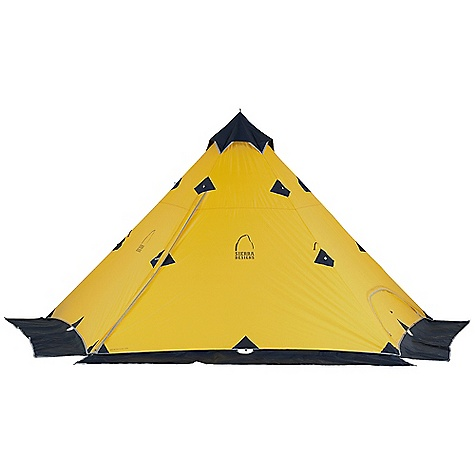Free Shipping. Sierra Designs Mountain Guide Tarp DECENT FEATURES of the Sierra Designs Mountain Guide Tarp PVC-free seam tape Snow flaps on fly Reflective door trim and guy outs Vent The SPECS Season: 4 Capacity: 4+ Person Trail Weight: 5 lbs 13 oz / 2.64 kg Packed Weight: 6 lbs 10 oz / 3.01 kg Packed Dimension: 22 x 6in. / 56 x 15 cm Number of Doors: 1 Interior Area: 109 square feet Peak Height: 89in. Fly: 70D Nylon, 1500mm Poles: DAC Press Fit - $329.95