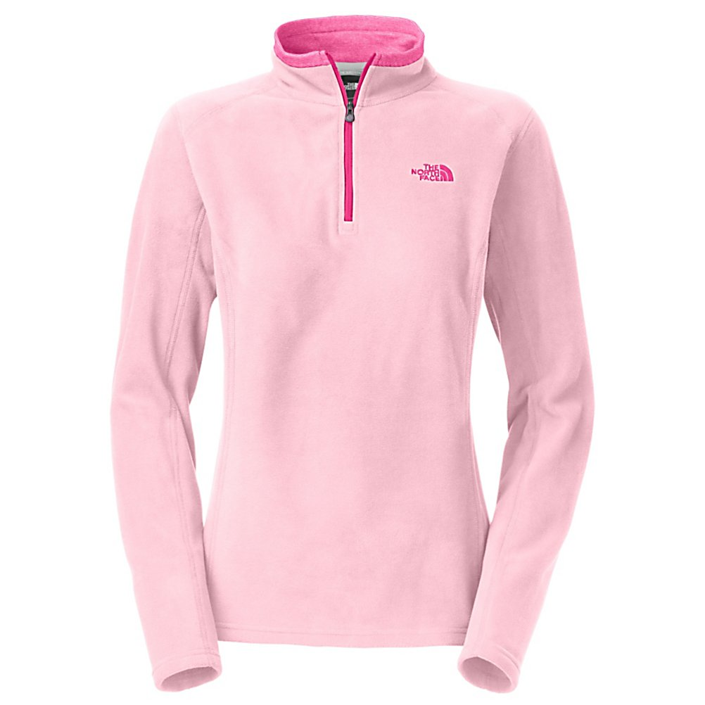 Ski The North Face Glacier 1/4 Zip Womens Mid Layer - The North Face Glacier 1/4 Zip is super soft, with a relaxed fit and has been refined to provide you with a perfect cool weather layer. The Polartec classic 100 material provides a soft feel that will keep you comfortable. The Glacier 1/4 zip is the perfect top for those early fall days as it provides you just enough warmth to keep you comfortable and its lightweight so that you can use this as a layering piece under your winter jacket on those super chilly, cold winters. The quarter zip allows you to regulate your body temperature so you don't get too warm. This jacket is quick drying to keep you from losing heat and the pill resistant face and back will keep The North Face Glacier 1/4 Zip looking brand new year after year. . Material: Polartec Classic 100 Micro Polyester, Bearing Grade: Performance, Warranty: Lifetime, Battery Heated: No, Closure Type: Partial Zip Top, Wind Protection: No, Type: Turtlenecks and Layering, Material: Synthetic, Wicking Properties: No, Sleeve Type: Long Sleeve, Water Resistant: No, Model Year: 2014, Product ID: 318189, Shipping Restriction: This item is not available for shipment outside of the United States., Model Number: A7YPE9G-S, GTIN: 0881862511930 - $55.00