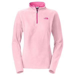 Snowboard The North Face Glacier 1/4 Zip Womens Mid Layer - The North Face Glacier 1/4 Zip is super soft, with a relaxed fit and has been refined to provide you with a perfect cool weather layer. The Polartec classic 100 material provides a soft feel that will keep you comfortable. The Glacier 1/4 zip is the perfect top for those early fall days as it provides you just enough warmth to keep you comfortable and its lightweight so that you can use this as a layering piece under your winter jacket on those super chilly, cold winters. The quarter zip allows you to regulate your body temperature so you don't get too warm. This jacket is quick drying to keep you from losing heat and the pill resistant face and back will keep The North Face Glacier 1/4 Zip looking brand new year after year. . Material: Polartec Classic 100 Micro Polyester, Warranty: Lifetime, Battery Heated: No, Closure Type: Partial Zip Top, Wind Protection: No, Type: Turtlenecks and Layering, Material: Synthetic, Wicking Properties: No, Sleeve Type: Long Sleeve, Water Resistant: No, Model Year: 2014, Product ID: 318189, Shipping Restriction: This item is not available for shipment outside of the United States., Model Number: A7YPE9G-S, GTIN: 0881862511930 - $44.93