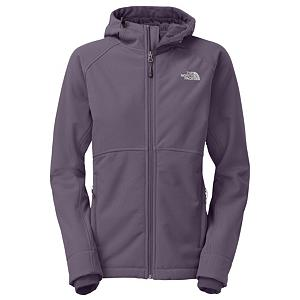 Ski The North Face Powerdome Hoodie Womens Soft Shell Jacket - Putting the soft back in soft shell The North Face Powerdome Hoodie jacket will keep you dry and warm. The plush raschel fleece backer makes this jacket so soft you may never want to take it off. This jacket is made with Polartec fleece that points out the hot and cold zones to make sure you stay warm where you need it the most. There is high-pile fleece in the shoulders and back of the jacket to trap in the warmth without adding extra bulk. A full adjustable, helmet compatible hood on The North Face Powerdome hoodie jacket will keep your dome warm and protected from the elements. A zip chest pocket and two handwarmer pockets will allow you to store any small items you may need while out on the mountain. . Model Year: 2014, Product ID: 318146, Shipping Restriction: This item is not available for shipment outside of the United States., Model Number: A6EAD3R-S, GTIN: 0808390799647, Wind Protection: Yes, Waterproof Zippers: No, Breathability: Not Specified, Insulation Type: None (Shell), Length: Medium, Cut: Regular, Type: Softshell, Race: No, Battery Heated: No, Warranty: Lifetime, Breathability Rating: N/A, Waterproof Rating: DWR Finish, Taped Seams: None, Insulation Weight: N/A, Exterior Material: Polartec Windbloc - $149.93