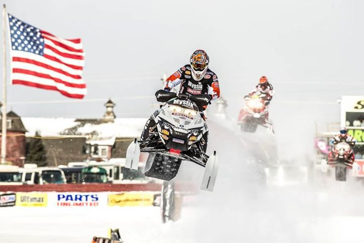 Snowmobile Every time we race, every trail we ride, every hill we climb – it is with respect and reverence that we honor those who sacrificed their lives to give us this wide open freedom.    Jake Scott of Team LaVallee shown here at the Eagle River Derby (Photo: Wa