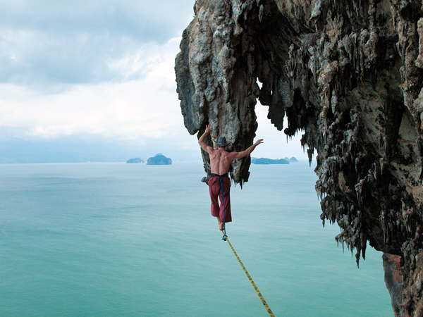 Climbing Jared Aiden Highlining in Koh Yao Noi, Phuket, Thailand