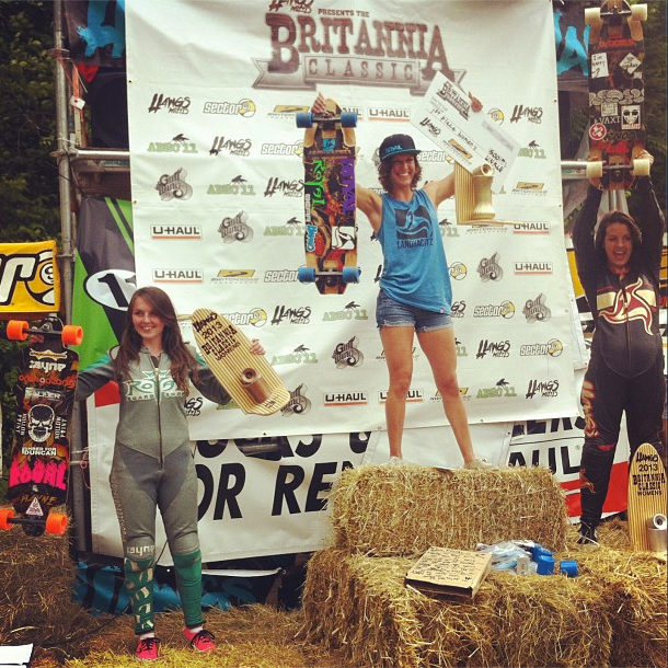 Skateboard Morning everyone! Britannia Classic Women podium: 