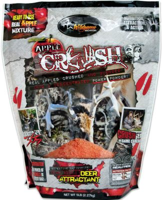 Wildgame Innovations Apple Crush Mix is the ideal blend of sliced, dried and crushed apples mixed with an irresistibly sweet blend of proteins and fats that draw game animals from a distance. Available: 5-lb. bag. - $14.99