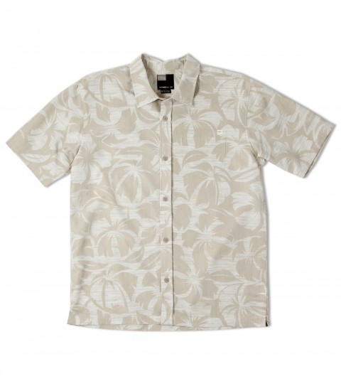 Surf O'Neill Grotto Polynosic Shirt.  Polynosic blend printed floral S/S woven with sand wash. Logo embroideries and labels. - $40.99