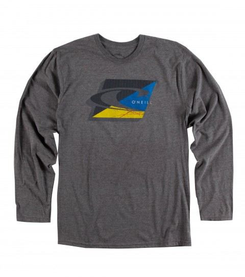 Surf O'Neill Layers LS Tee.  50% Cotton / 50% Poly.  30 singles modern fit longsleeve tee with softhand screenprint. - $24.50