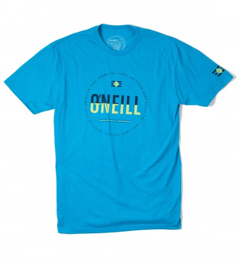 Surf O'Neill Intertwined Tee.  50% Cotton / 50% Poly.  30 singles modern fit heather tee with softhand screenprint. - $16.99