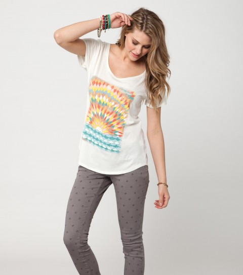 Surf O'Neill Endless Days Tee.  100% Cotton.  Pigment dyed; rouge scoop tee. - $13.99