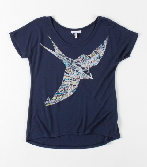 Surf O'Neill Girls Brix Tee.  65% Poly / 35% Rayon.  Slider tee with puff ink. - $15.99