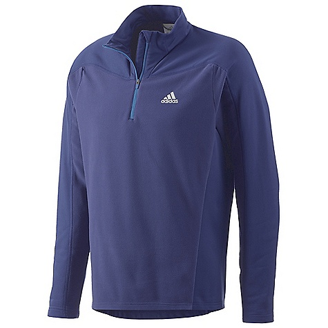 Fitness Adidas Men's Hiking - Trekking 1 Sided Fleece Half Zip Top DECENT FEATURES of the Adidas Men's Hiking / Trekking 1 Sided Fleece Half Zip Top Stretch 1 Sided Fleece: Combines a brushed inside with an optically interesting outside 1/2 ZIP: for ventilation The SPECS Weight: 10 oz / 283 gram - $44.95