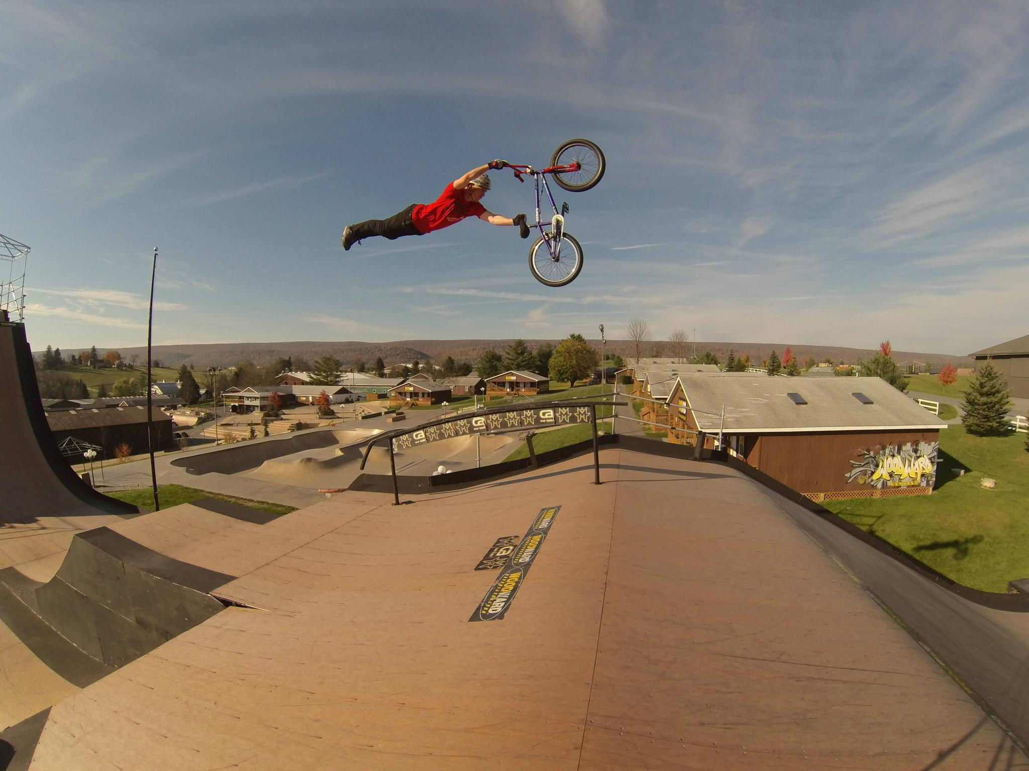 BMX Superman seat grab self portrait with HERO3 by GoPro athlete Chad Kagy