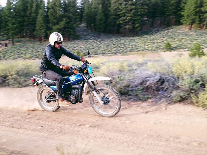Motorsports Surfer Magazine's contributing editor, Curious Gabe, and his Danner boots on a Memorial Day ride.