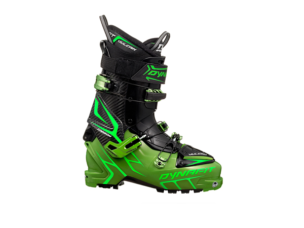 Ski Dynafit Vulcan - Comfortable Backcountry Ski Boot, the carbon cuff opens wide and the tongue pops out so your leg can move freely   $999