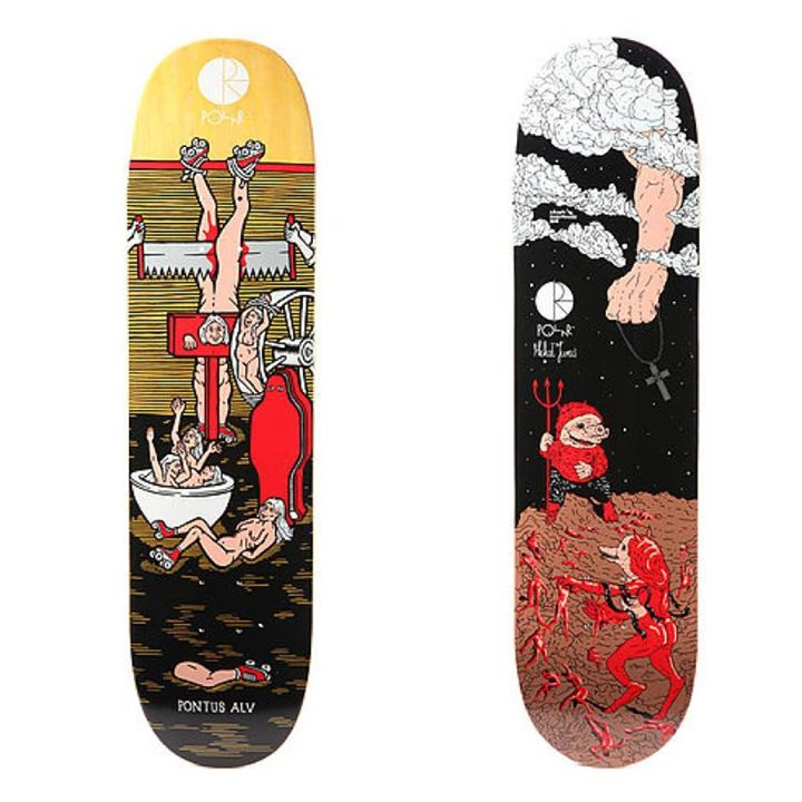 Skateboard The awesome Polar Skate Co. decks and gear keep rolling in. 
