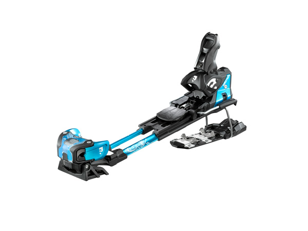 Ski Salomon's Guardian 16 bindings, which combine traditional alpine binding stoutness with the ability to pivot for touring    $550
