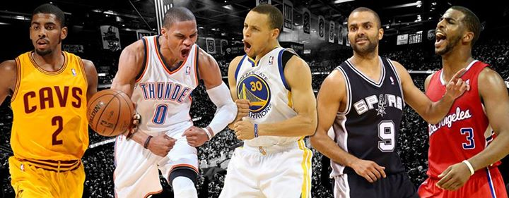 Sports LIVE VOTE NOW! Who's the best point guard in the NBA (who was healthy this year): Kyrie, Westbrook, Curry, Parker or Paul?  Rank them to vote: http://sc.espnvote.com/