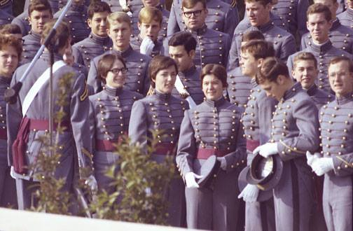 Guns and Military On the morning of July 7, 1976, 119 women joined the Corps of Cadets, establishing the first class of females at West Point - The U.S. Military Academy. Of those, 62 women walked across Michie Stadium to graduate on May 28, 1980, becoming second lieutenan