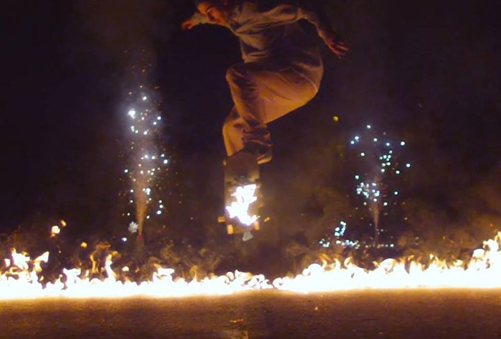 Skateboard And the winner for best use of fire in a skate video - FLAME!  Check it out...  VIDEO: www.thrillon.com/tag/flame-dr-jura-skate