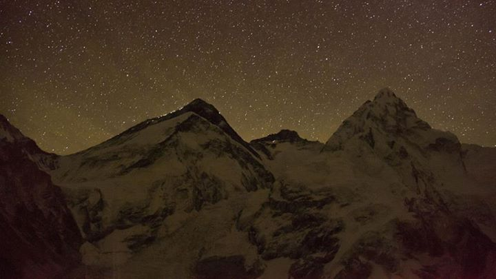 Climbing Summit lights on Everest.  More photos here: http://bit.ly/17d4B5x