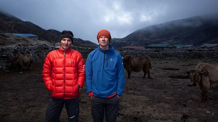 Entertainment Ueli Steck and Freddie Wilkinson.