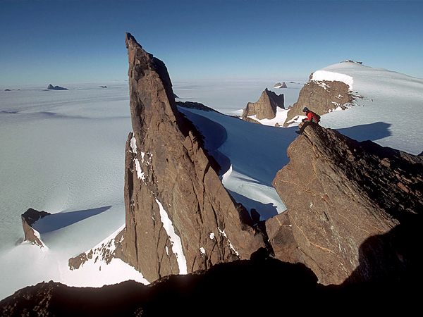 Climbing eastern stretches of Antarctica's Queen Maud Land.