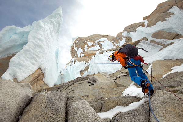 Climbing Picture of David Lama climbing Cerro Torre