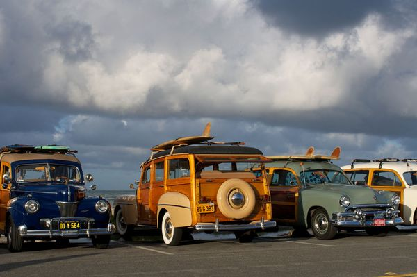 Surf Classic cars, surfboards, Southern California