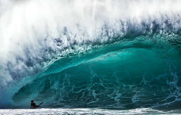 Surf Bodyboarding Pipeline, North Shore, Oahu, Hawaii