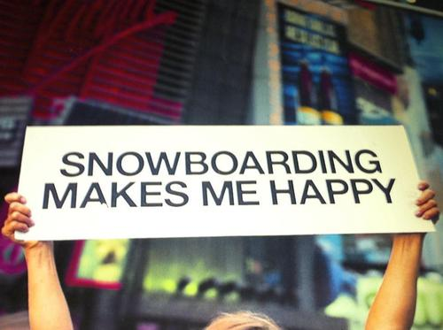 Snowboard happy