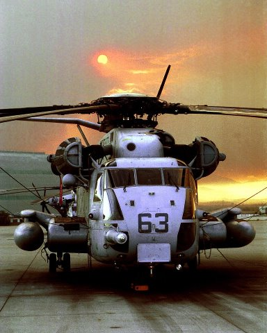 Guns and Military The heavy-lift helicopter of the Marine Corps (CH-53E Super Stallion) can carry a 26,000-pound Light Armored Vehicle, 16 tons of cargo 50 miles and back, or enough combat-loaded Marines to lead an assault or humanitarian operation.