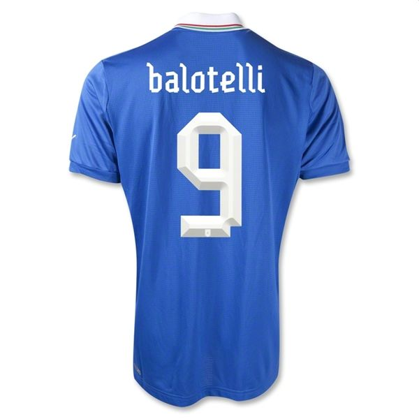 Entertainment BALOTELLI Italy Home Soccer Jersey 2012