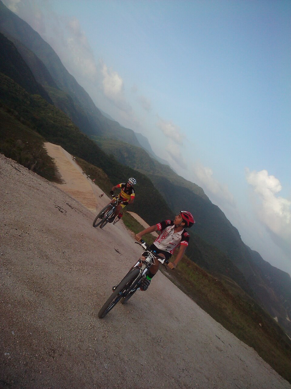 MTB Pedaling around Guayama P.R. in the White Roads