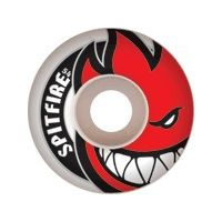 Skateboard Spitfire Bighead White / Red Skateboard Wheels - 48mm 99a (Set of 4)