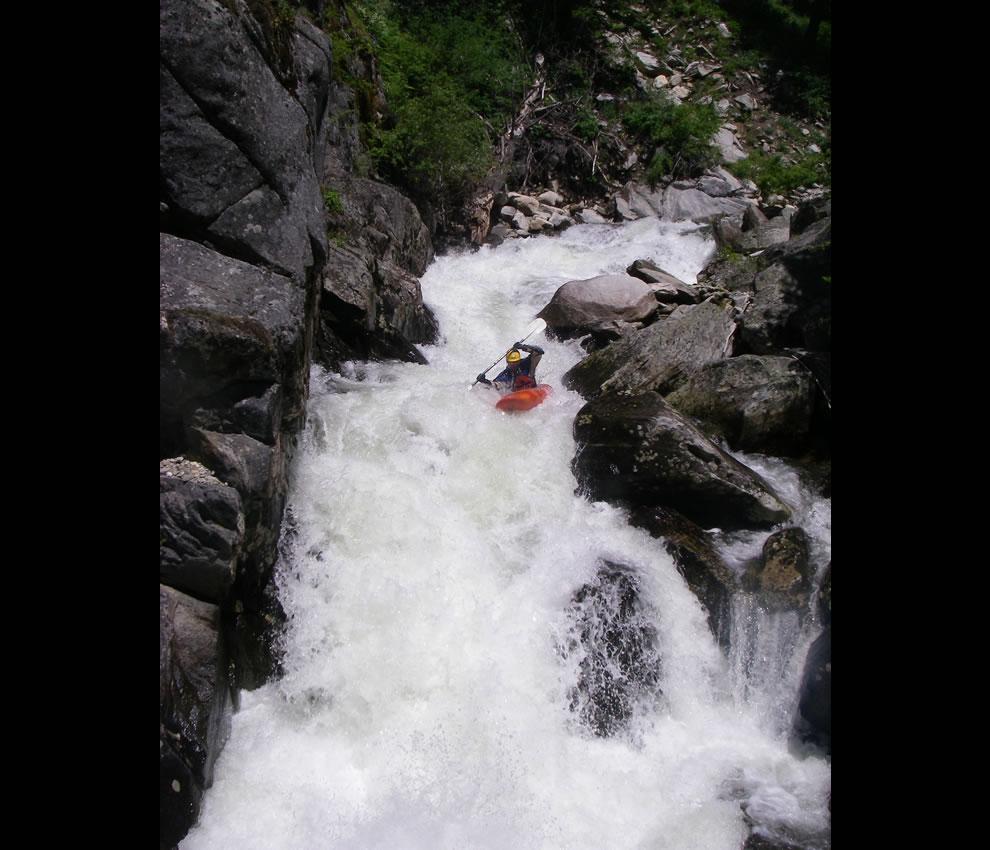 Kayak And Canoe Jared Alexander Creeking On Hazard Creek In Idaho
