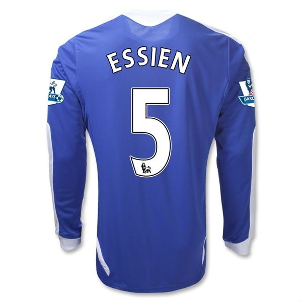 Entertainment Youth ESSIEN Chelsea Home Long Sleeve Soccer Jersey 2011/2012
